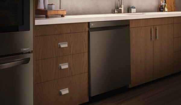 An image showing some of LG's built-in home appliances.